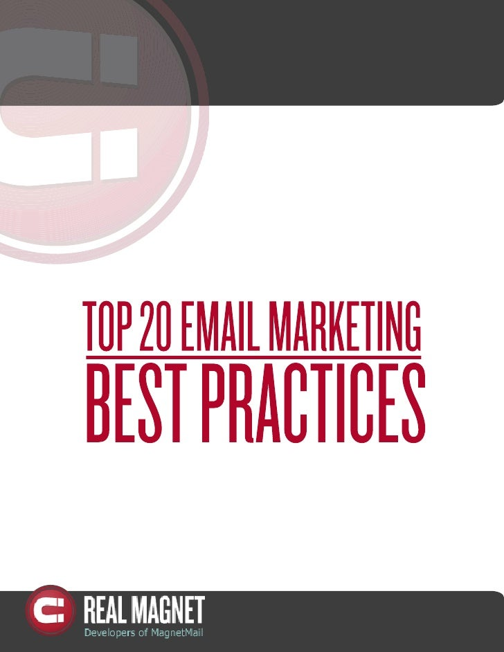 20 Best Practices Email