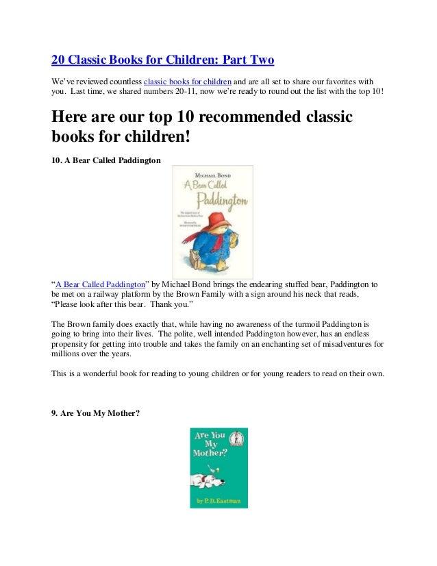 20 classic books for children part two pdf