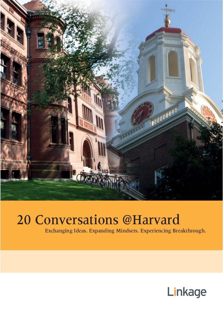 20 Conversations at Harvard