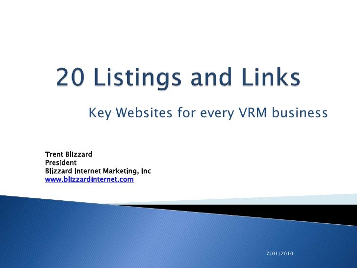 20 Core Links and Listings for Every Lodging Website