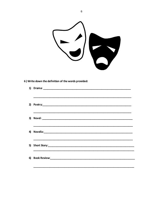 Worksheets Drama Worksheets creative writing course worksheets 6