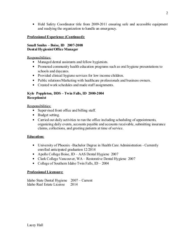 Lacey Hall Resume