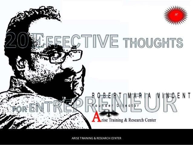 20 effective thoughts   entrepreneur