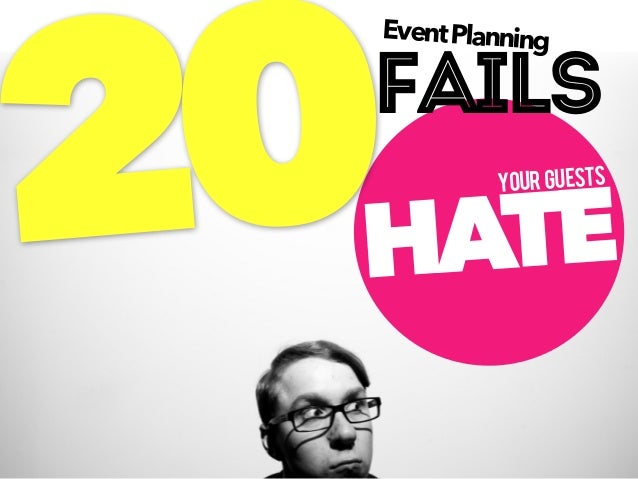 20 Event Planning Fails Our Guests Hate