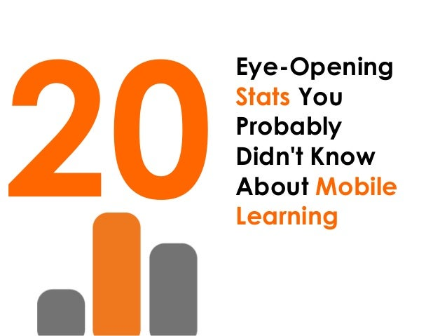 20 Eye-Opening Stats You Probably Didn't Know About Mobile Learning