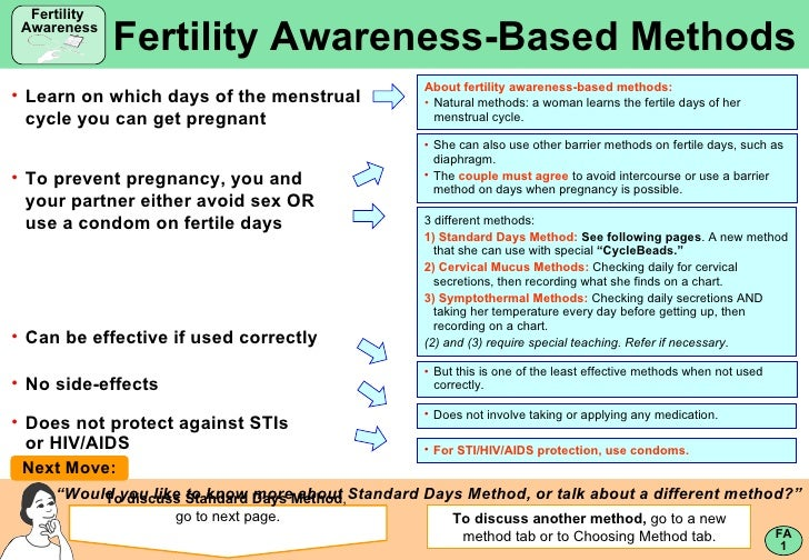 <ul><li>Learn on which days of the menstrual cycle you can get pregnant </li></ul><ul><li>For STI/HIV/AIDS protection, use...
