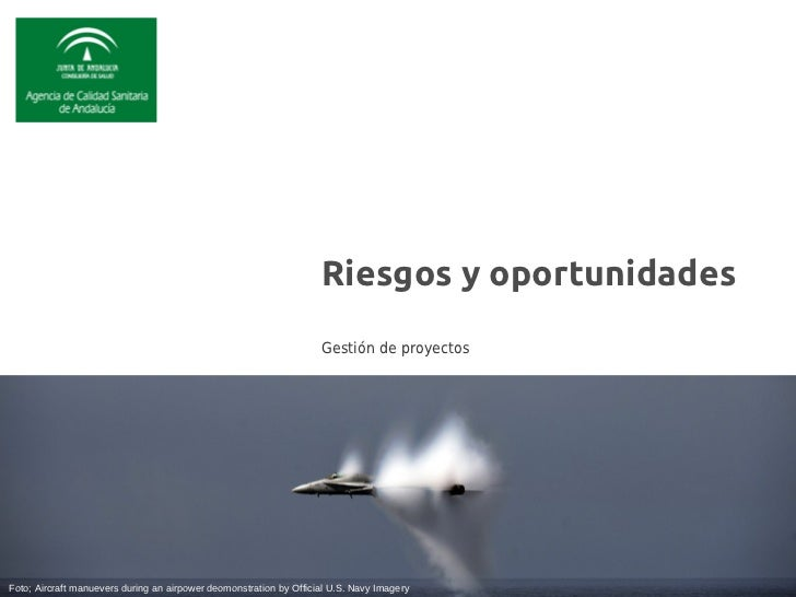 Riesgos y oportunidades                                                                    Gestión de proyectosFoto; Aircr...