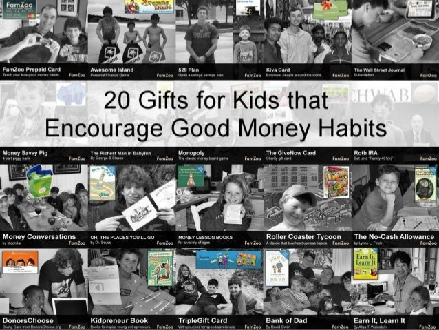 20 Gifts for Kids that Encourage Good Money Habits Curated by FamZoo.com