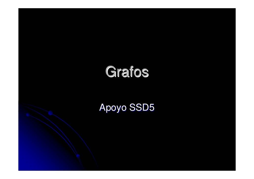 Grafos  Apoyo SSD5