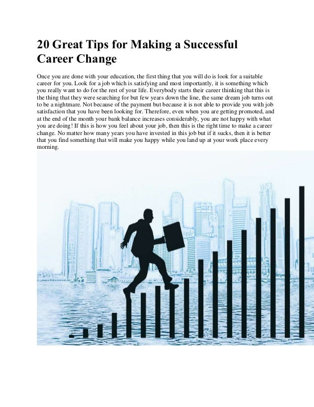 20 great tips for making a successful career change