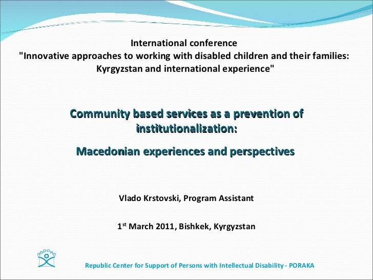 """International conference   """"Innovative approaches to working with disabled children and their families:  Kyrgyzstan a..."""