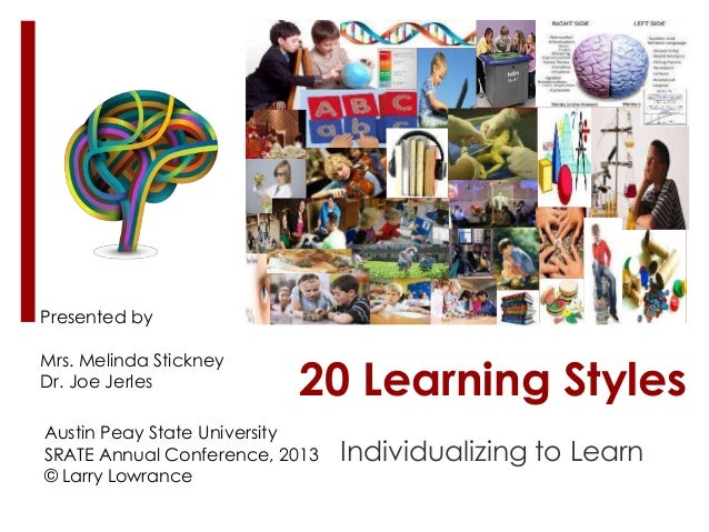 20  learning styles srate-2013