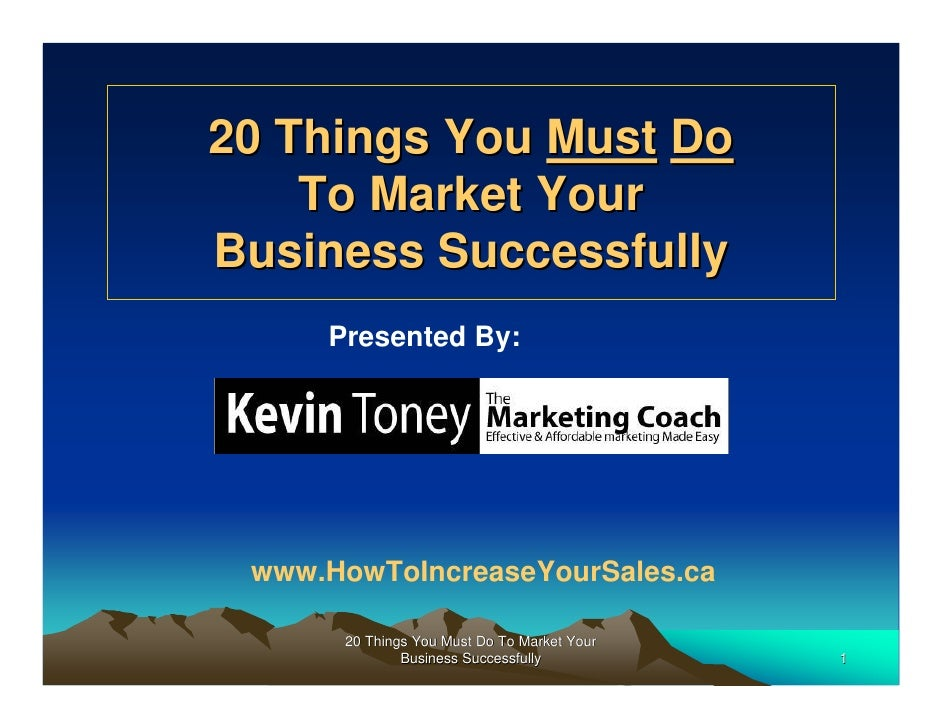 20 Marketing Tips You  Must Know