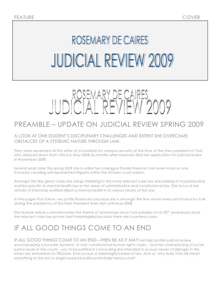 [20] May 2009 [E Fea] Jud Icial Review 2009