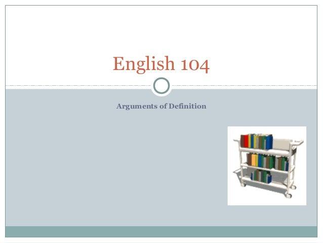 Arguments of Definition