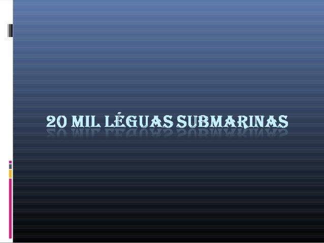 20 mil léguas submarinas - Livro