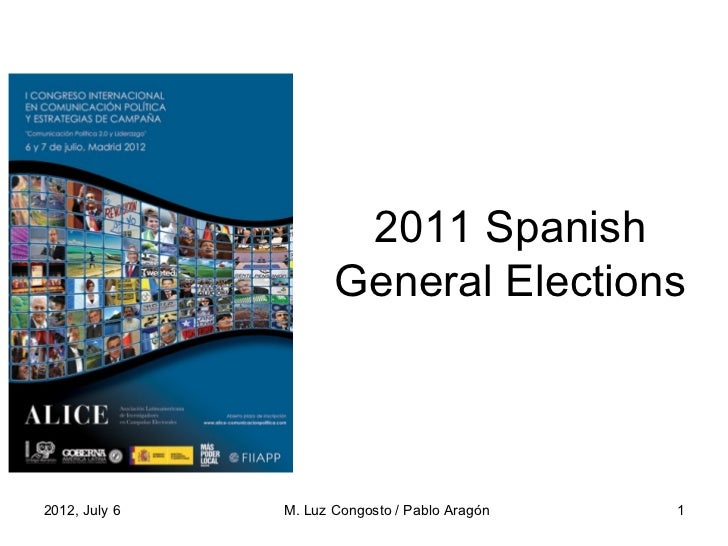 2011 Spanish General Election