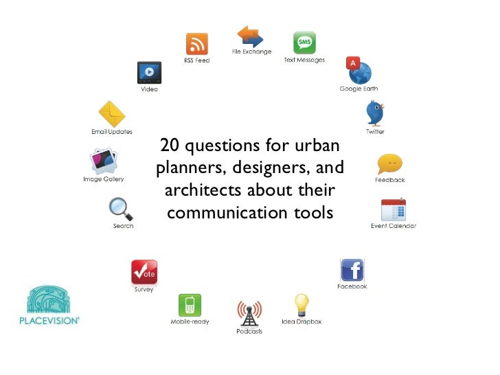 20 questions for urban planners, designers, and architects about their communication tools