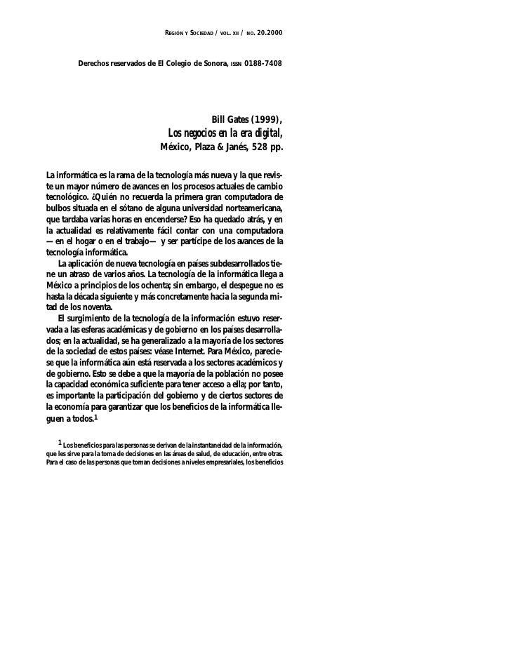 REGIÓN Y SOCIEDAD / VOL. XII / NO. 20.2000                Derechos reservados de El Colegio de Sonora, ISSN 0188-7408     ...