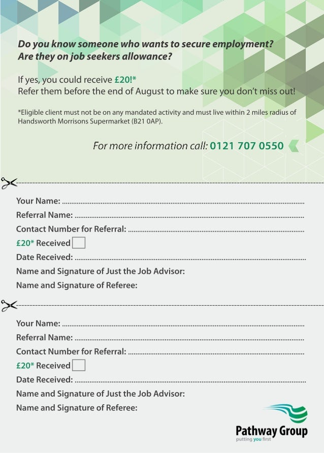 Just the Job £20 Referral