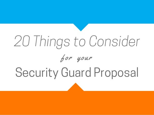Security guard proposal template
