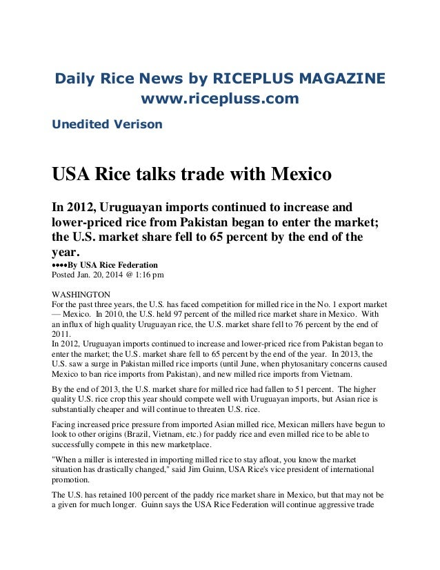 20th jan2014 daily global rice e newsletter by riceplus magazine (unedited verison)