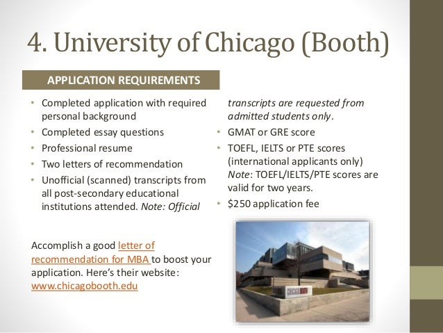 chicago booth application essays Chicago booth 2016 mba essays and deadlines the university of chicago booth school of business is the second-oldest business school in the us this year the bschool releases its application with an extensive presentation essay.