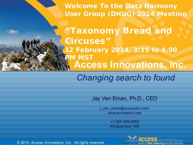 Taxonomy Bread and Circuses