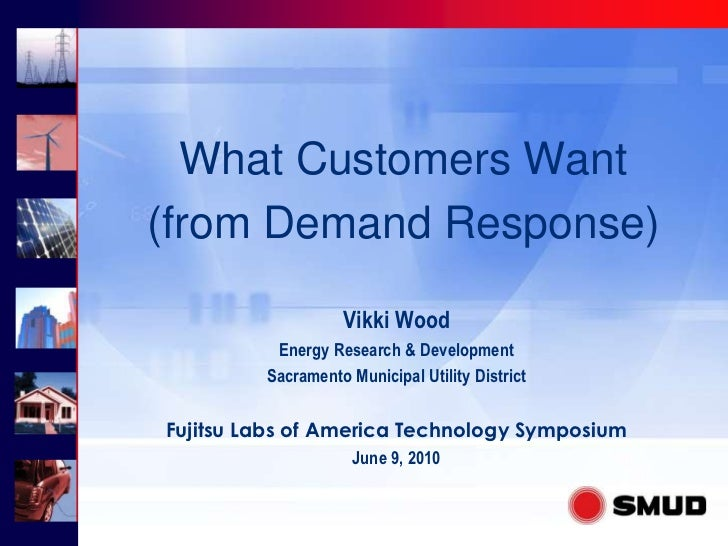 What Customers Want (from Demand Response)