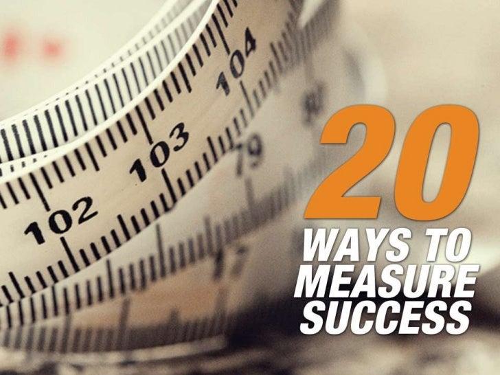 20 Ways to Measure Digital Marketing Success