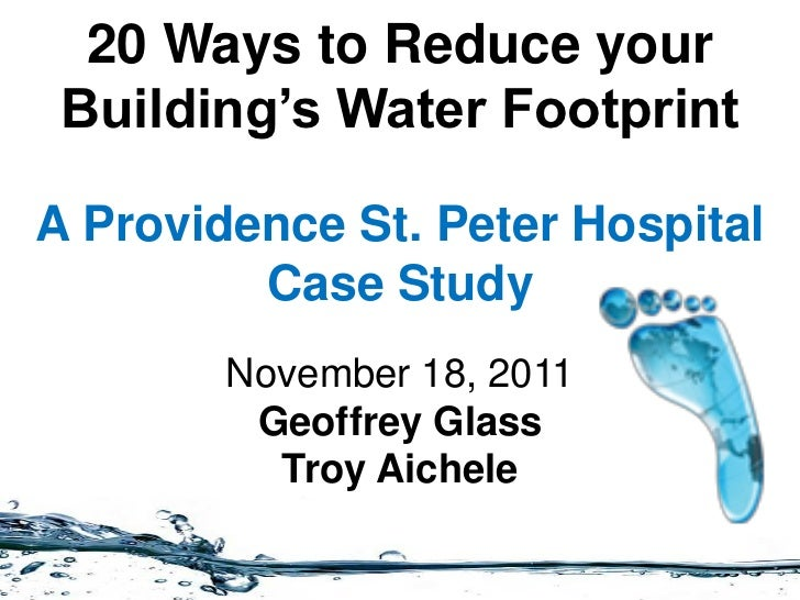 20 ways to reduce your building's water footprint
