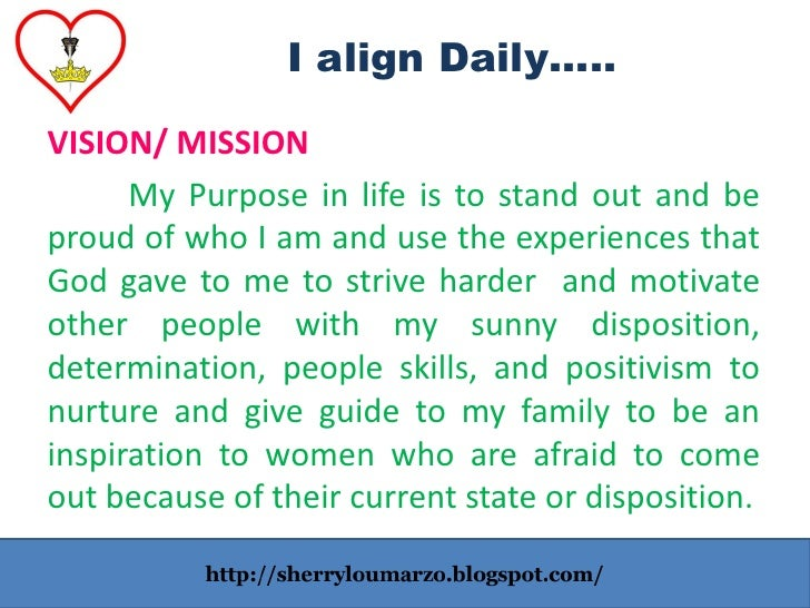 my personal mission statement in life Even if you work for companies your entire life liquidplanner: what is a vision and mission how to create a personal mission and vision statement for.