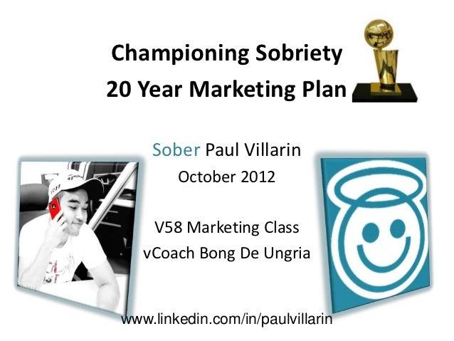 20 year marketing plan   paul villarin