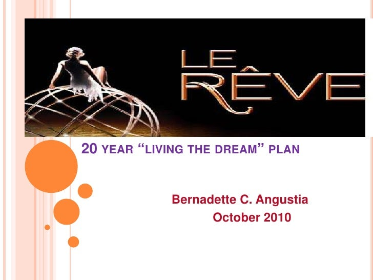 20 year marketing plan of bam -- Le Reve
