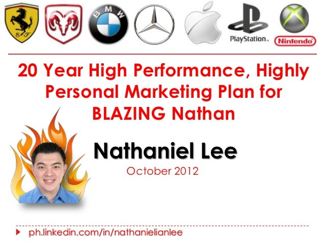 20 Year High Performance, Highly   Personal Marketing Plan for        BLAZING Nathan               Nathaniel Lee          ...