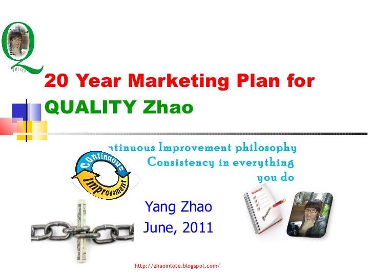 20yearpersonalmarketingplan yang zhao