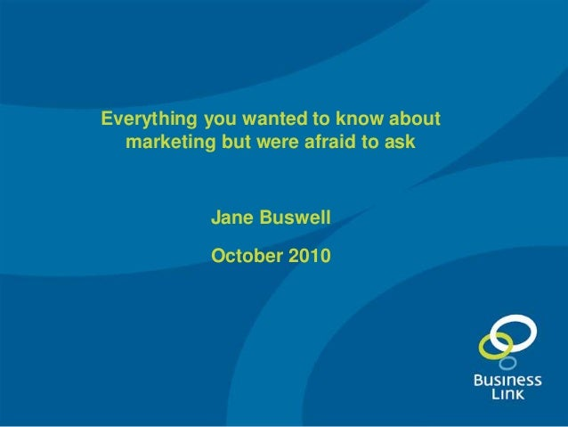 21.10.10 everything you wanted to know about marketing (Weymouth, Dorset)