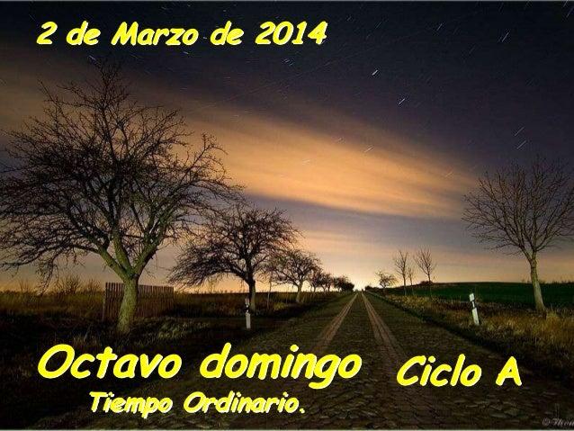 2 de Marzo de 2014  Octavo domingo Ciclo A Tiempo Ordinario.