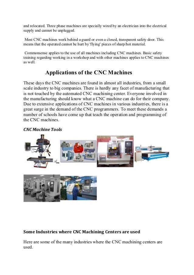cnc machine study
