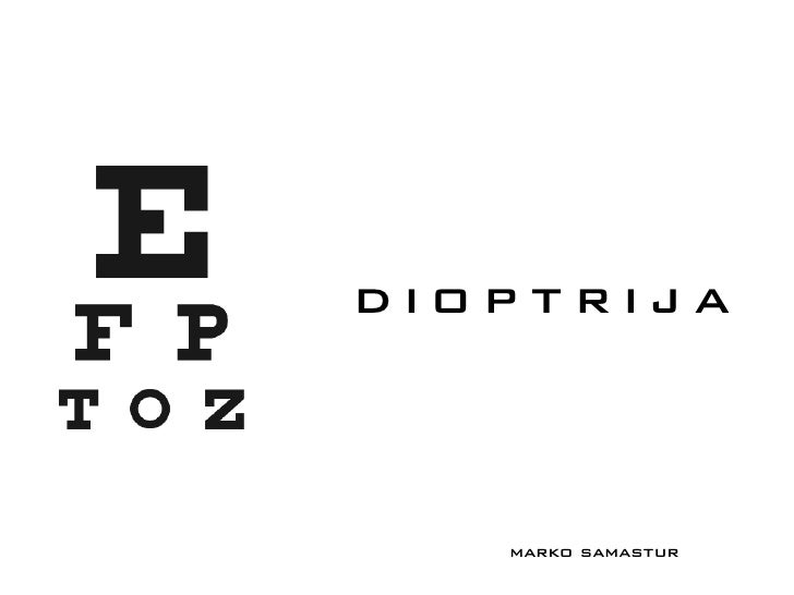 Dioptrija - Marko Samastur