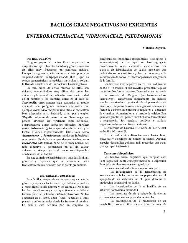 enterobacterias, vibrios y pseudomonas