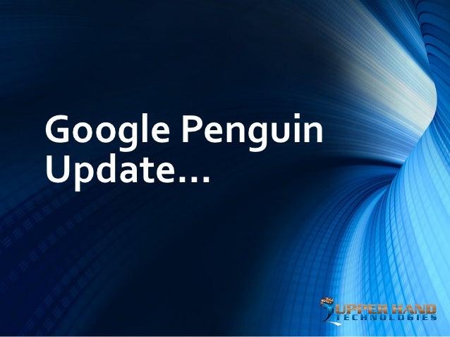 Google PenguinUpdate…