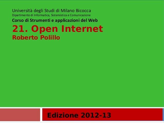 21. Open internet