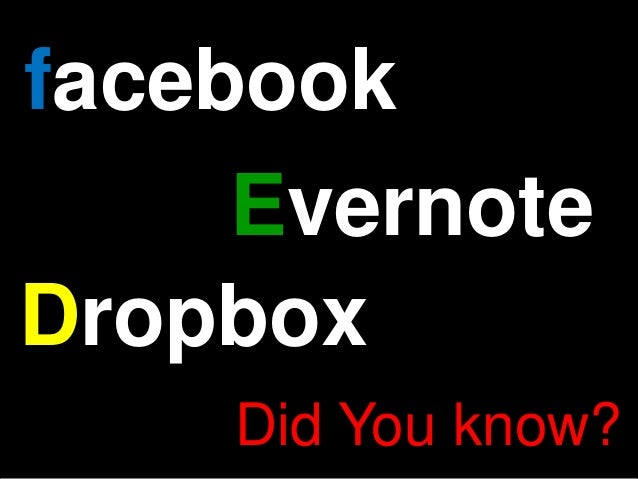 facebook     EvernoteDropbox    Did You know?
