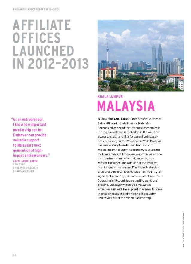 Endeavor Launch 2012 Endeavor Impact Report 2012