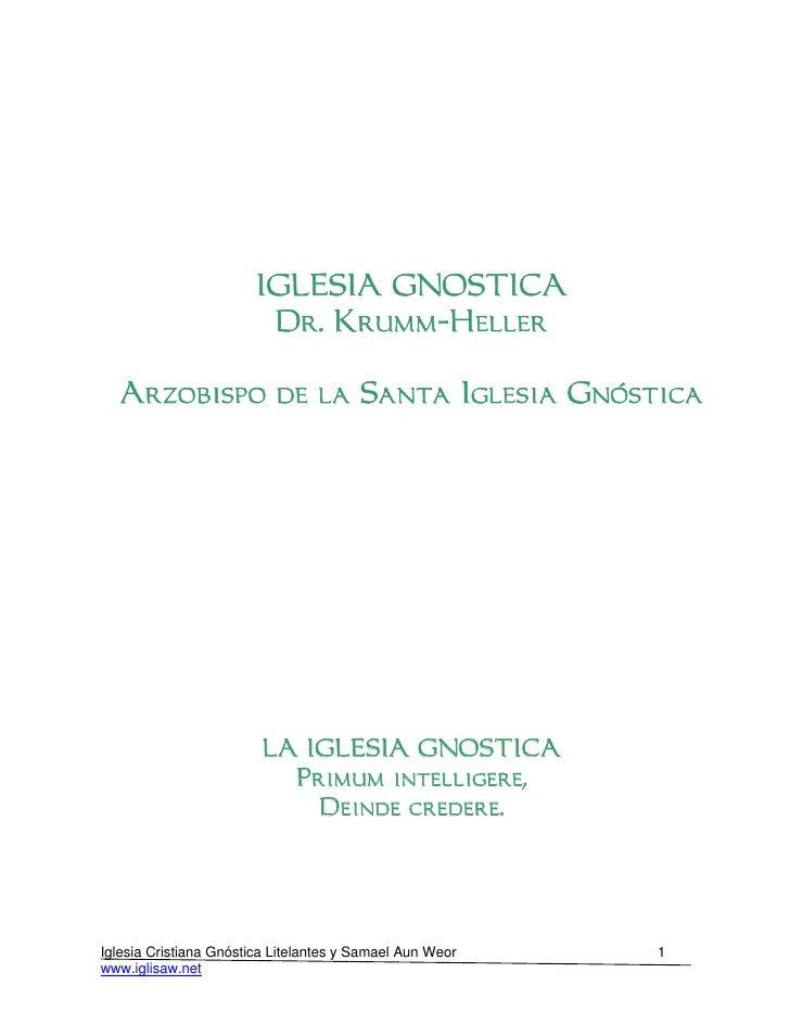 21 05 la iglesia gnostica www.gftaognosticaespiritual.org