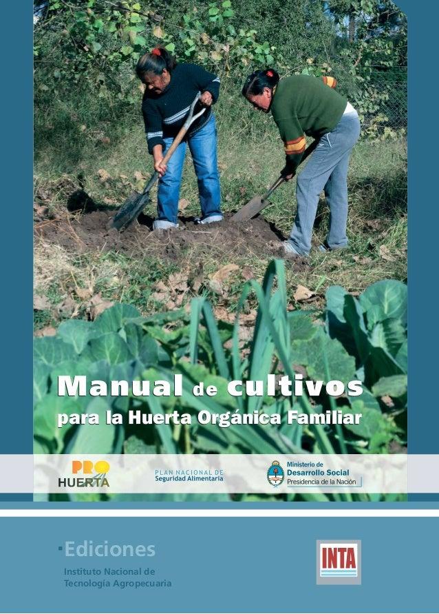 MANUAL DE CULTIVOS PARA HUERTA ORGANICA FAMILIAR