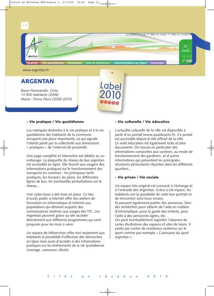 14      www.argentan.fr   ARGENTAN                                                      Label                             ...