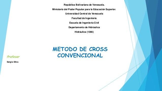 República Bolivariana de Venezuela.  Ministerio del Poder Popular para la Educación Superior.  Universidad Central de Vene...