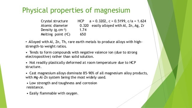 Chemical Properties Of Magesium